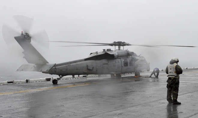Two Navy Helicopters Join in Korean Ferry Rescue Effort