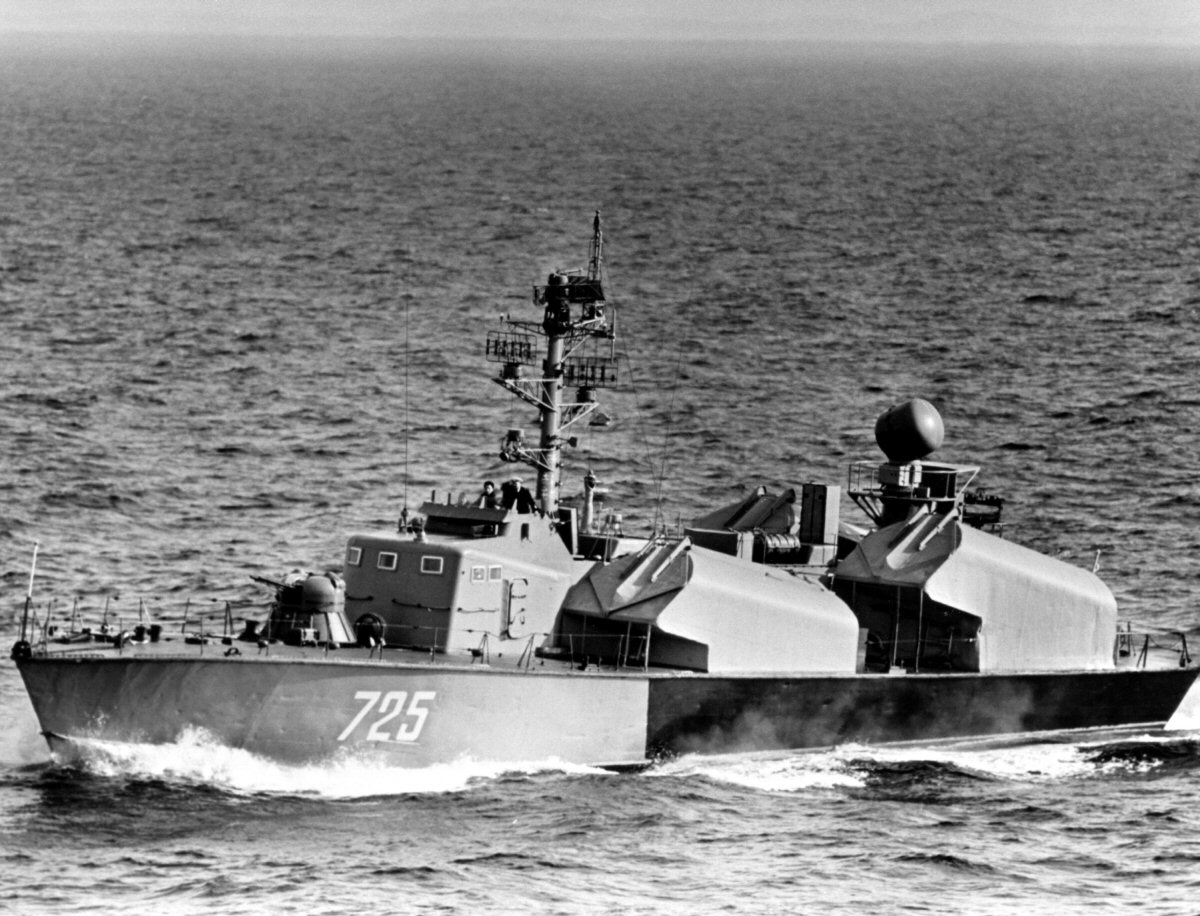 Soviet OSA-1 missile boat similar to the type used by the North Korean navy