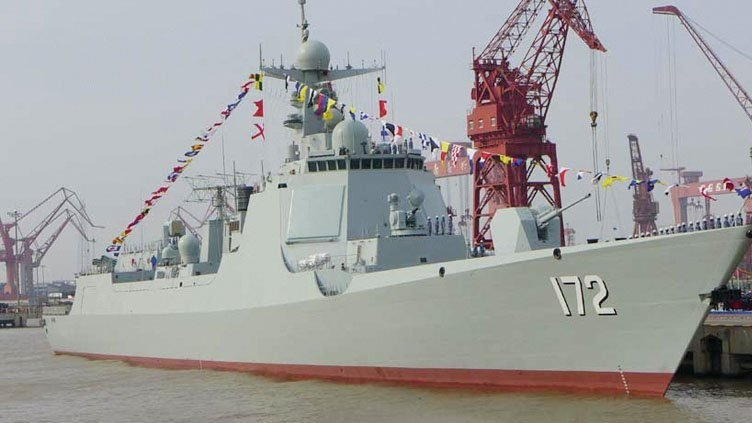 The first of the People's Army Liberation Navy Type 052D Luyang III destroyer. PLAN Photo
