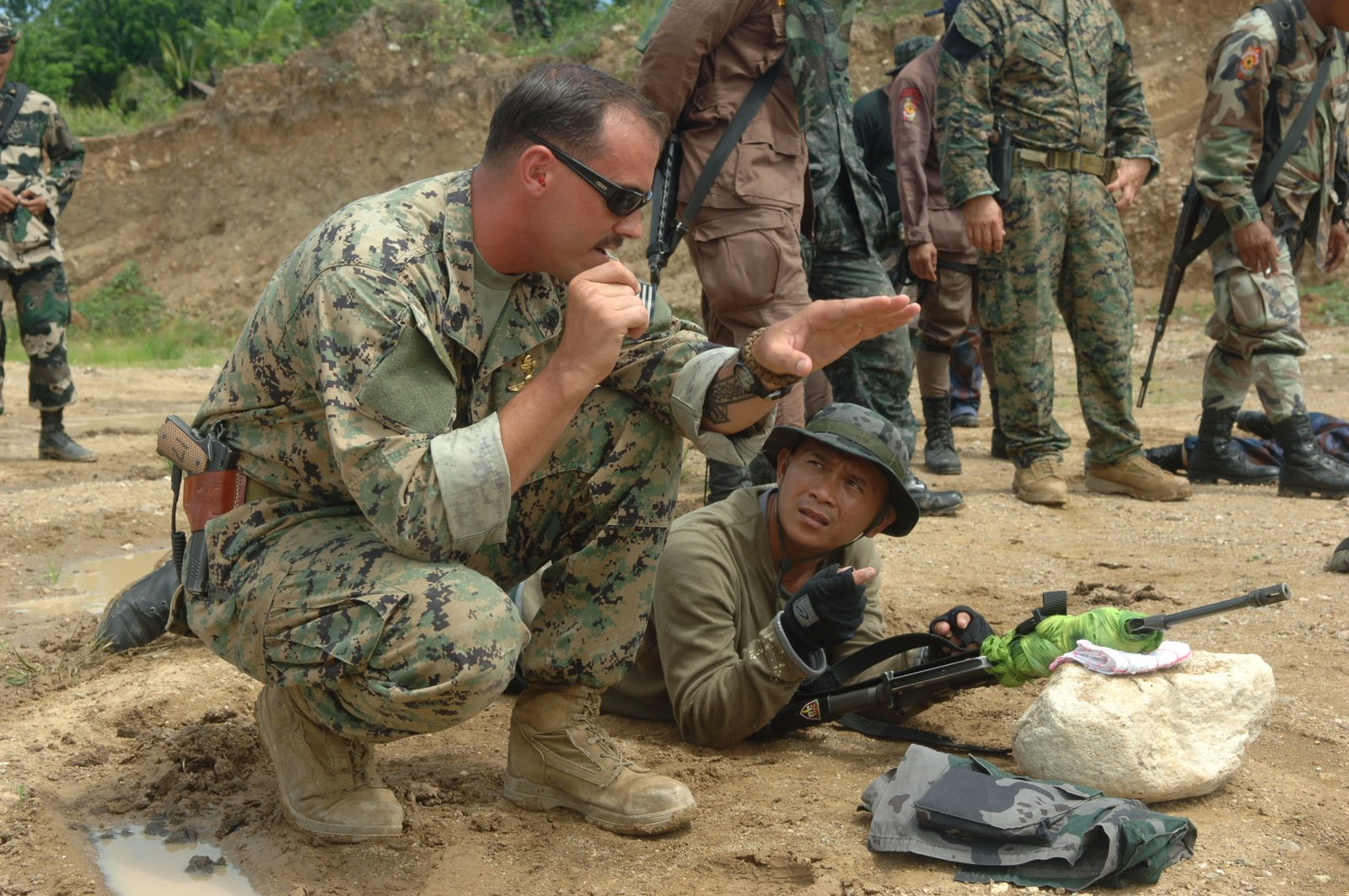 An undated photo of a Marine with the Joint Special Operations Task Force - Philippines. DoD Photo