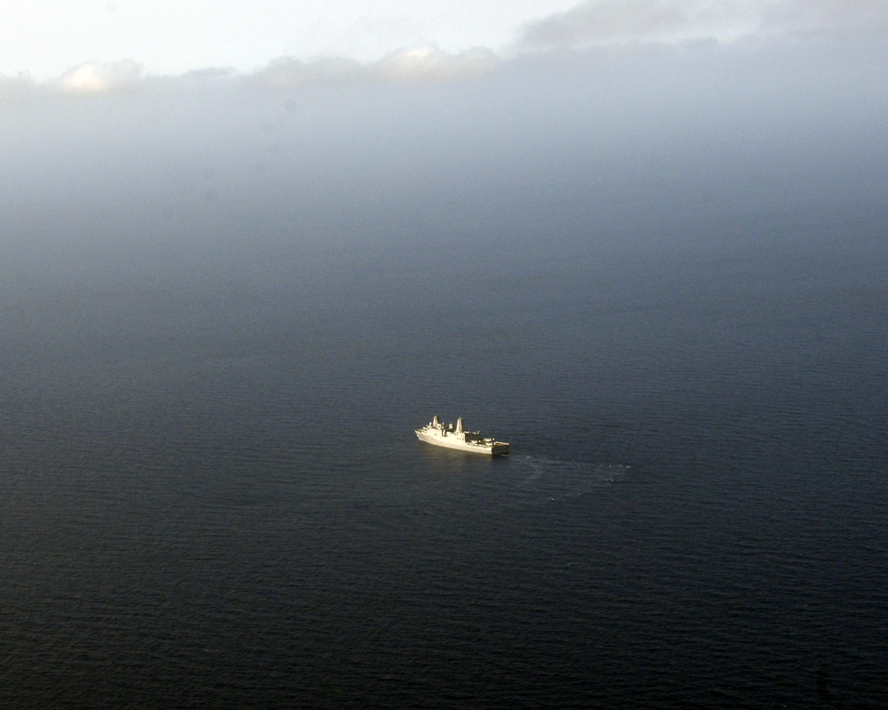 USS Mesa Verde (LPD-19) is underway in the U.S. 5th Fleet Area of Responsibility. US Navy Photo