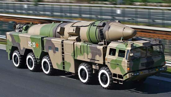 The People's Liberation Army's DF-21D medium range ballistic missile, the so-called 'carrier killer.'