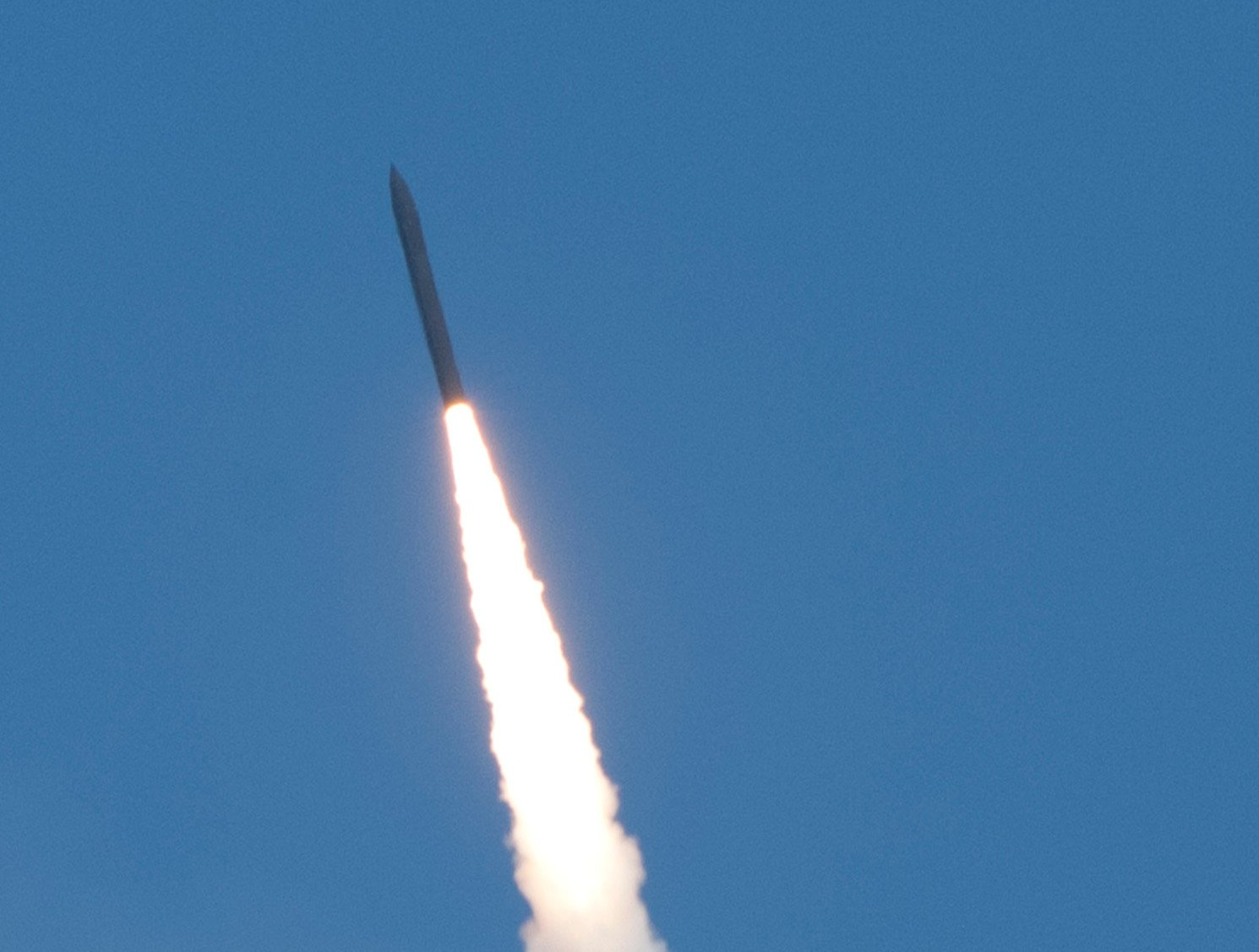 Missile Defense Agency's Flight Test 06b Ground-Based Interceptor launches from Vandenberg Air Force Base, Calif. on June 22, 2014. MDA Photo