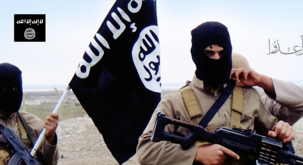 Undated photo of ISIS militants