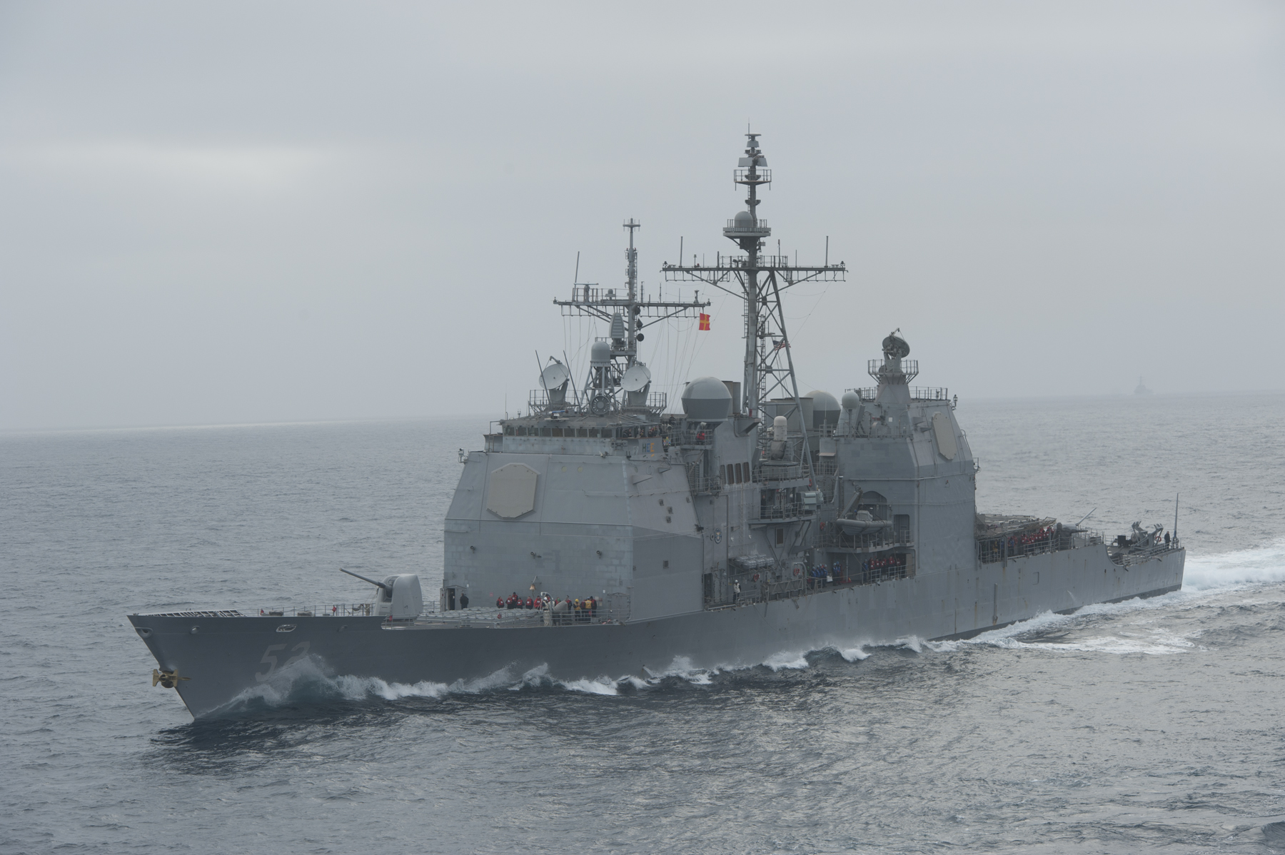 Ticonderoga-class cruiser USS Bunker Hill (CG-52) on May 28, 2014. US Navy Photo