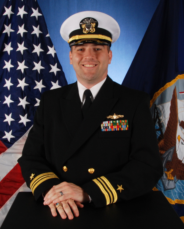Lt. Cmdr. John Liddle, USS Hué City (CG-66). US Navy Photo