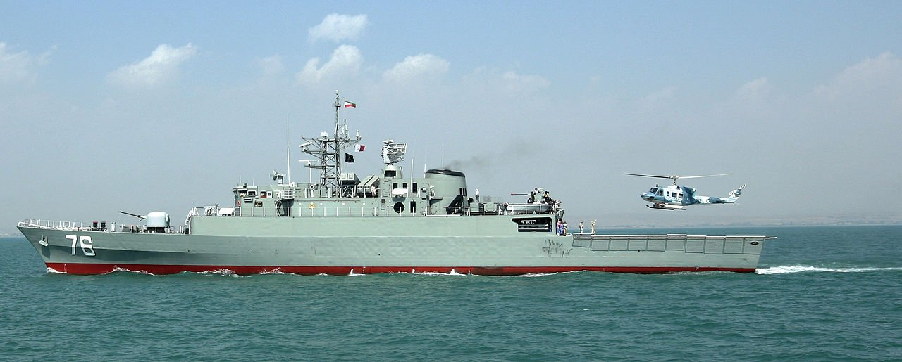 Iranian Navy frigate Jamaran. Iranian Navy Photo