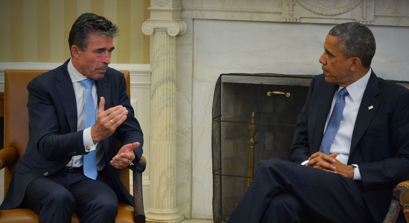 NATO Secretary General Anders Fogh Rasmussen and US President Barack Obama at the White House. NATO Photo