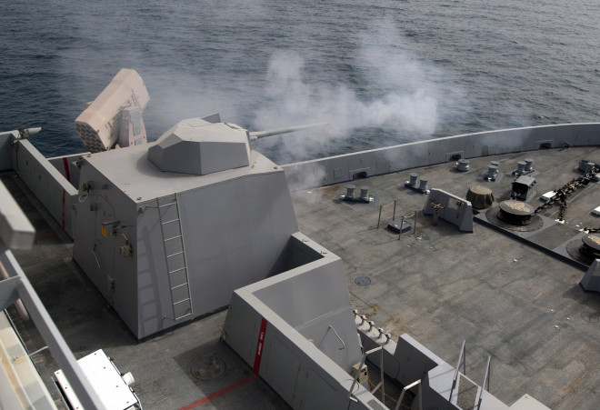 Navy Swaps Out Anti-Swarm Boat Guns on DDG-1000s