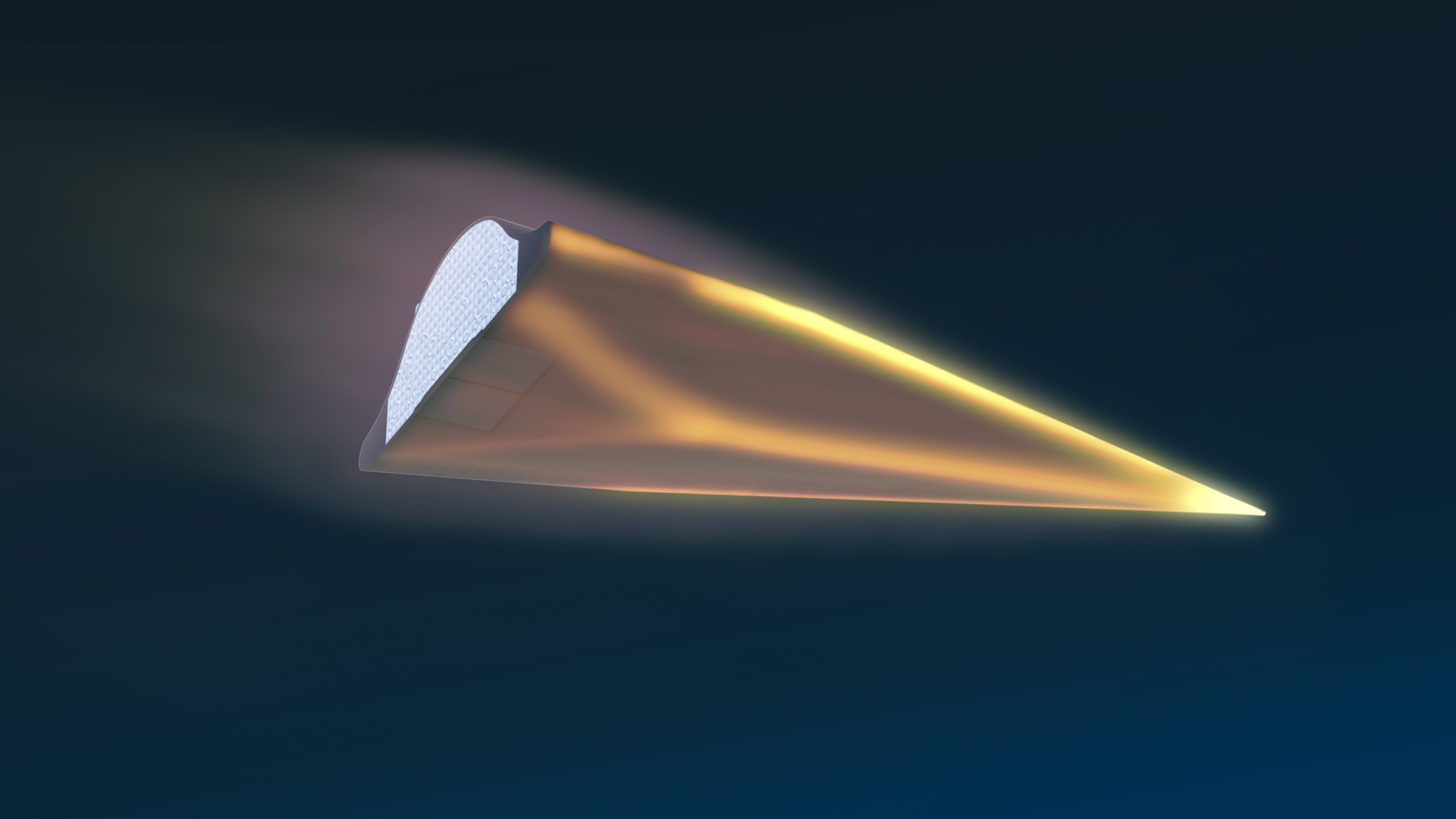 Artist's concept of a hypersonic vehicle. DARPA Photo
