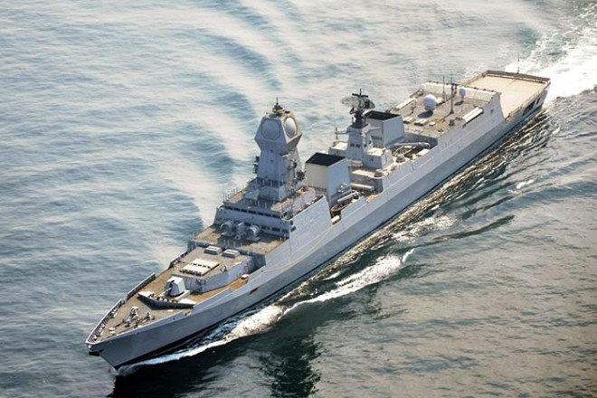 India Commissions First in New Class of Stealthy Destroyer
