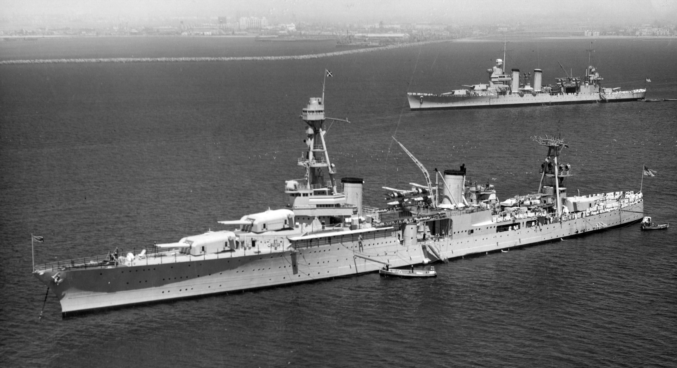 USS Houston (CA-30) in 1934. US Navy Photo