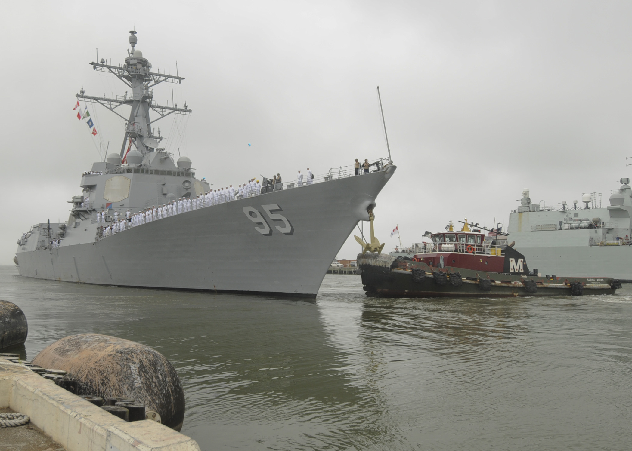 USS James E. Williams (DDG 95) departs Naval Station Norfolk for an eight-month deployment to the U.S. 6th Fleet area of responsibility on May 30, 2014. US Navy Photo