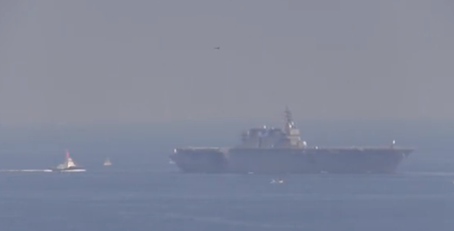 Japan's Largest Warship Since World War II Takes To Sea