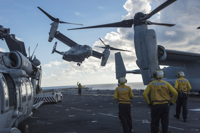 CENTCOM Identifies U.S. Marine Presumed Lost At Sea Following Osprey Bail Out