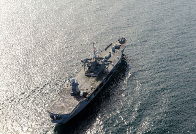 U.S. Command Ship Leaves Black Sea