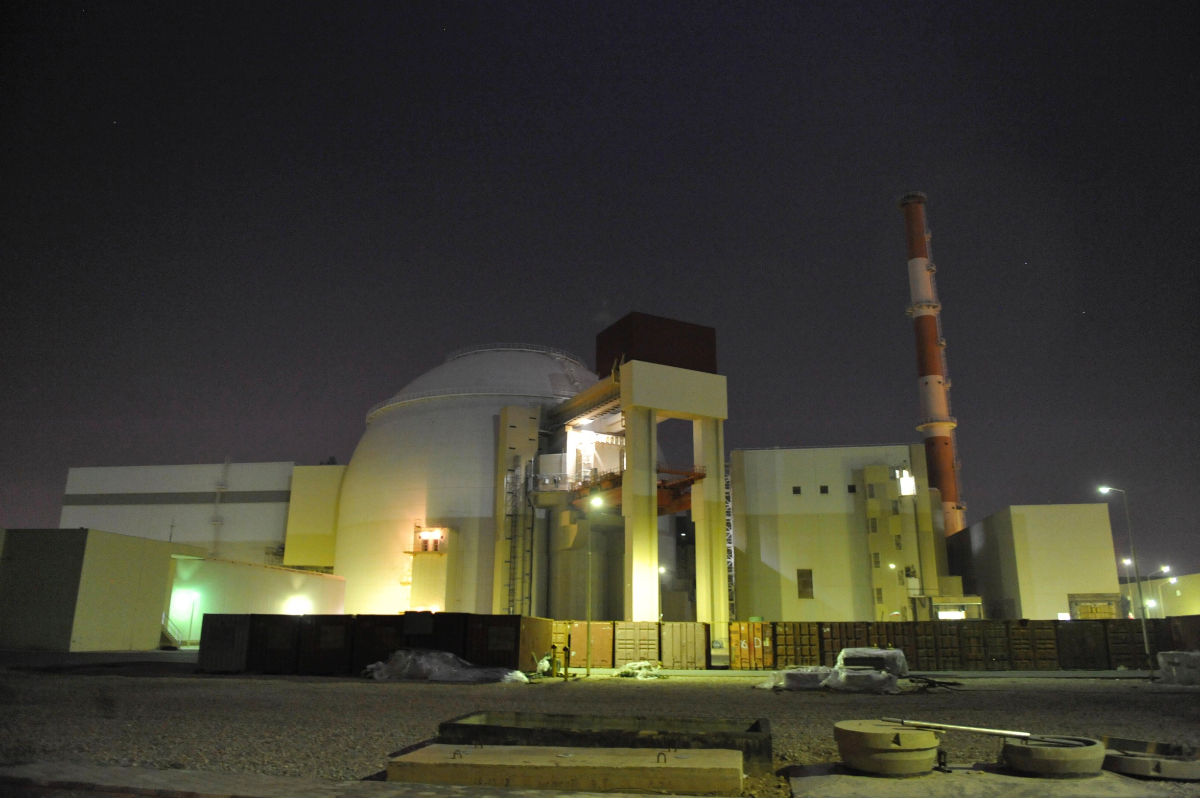 An undated photo of the reactor building of Iran's Bushehr Nuclear Power Plant. Iranian Students News Agency photo