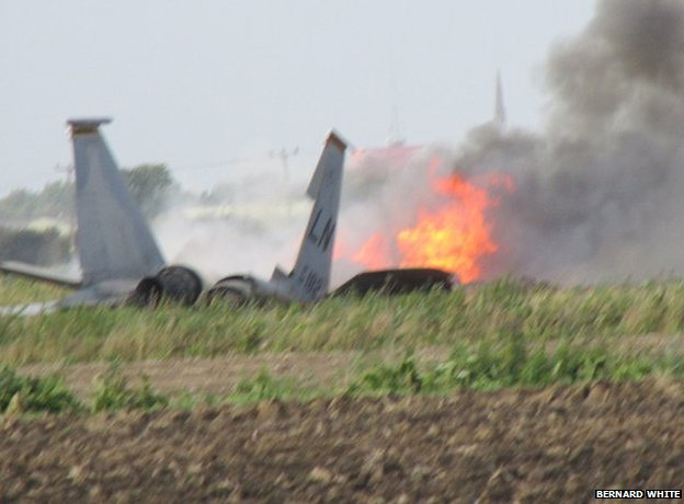 U.S. Air Force F-15D Crashes in England, Pilot Ejects Safely