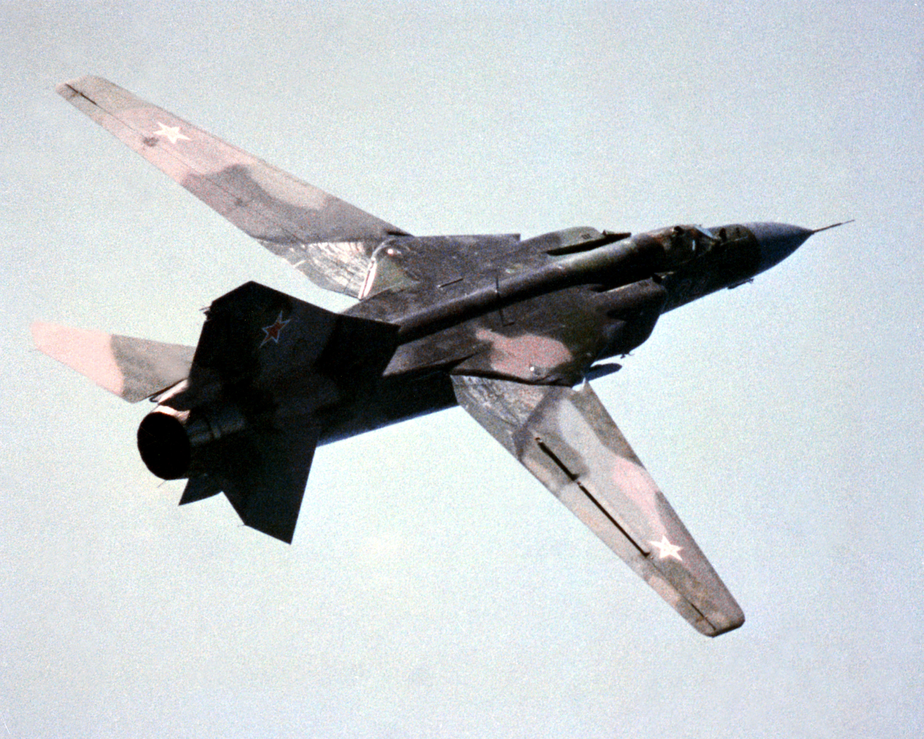 An undated photo of a Soviet era MiG-23 Flogger K via Wikipedia