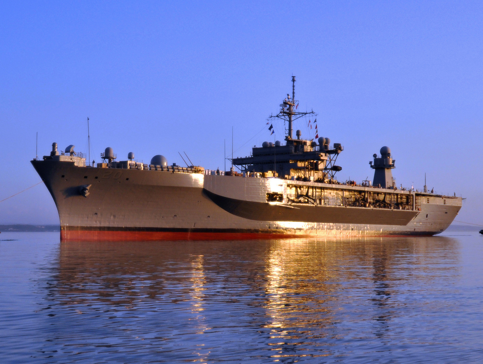 USS Mount Whitney (LCC-20) in 2011. US Military Sea Lift Command Photo