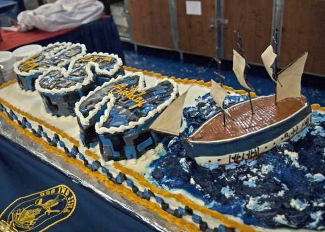 U.S. Navy Turns 239: Pass the Cake