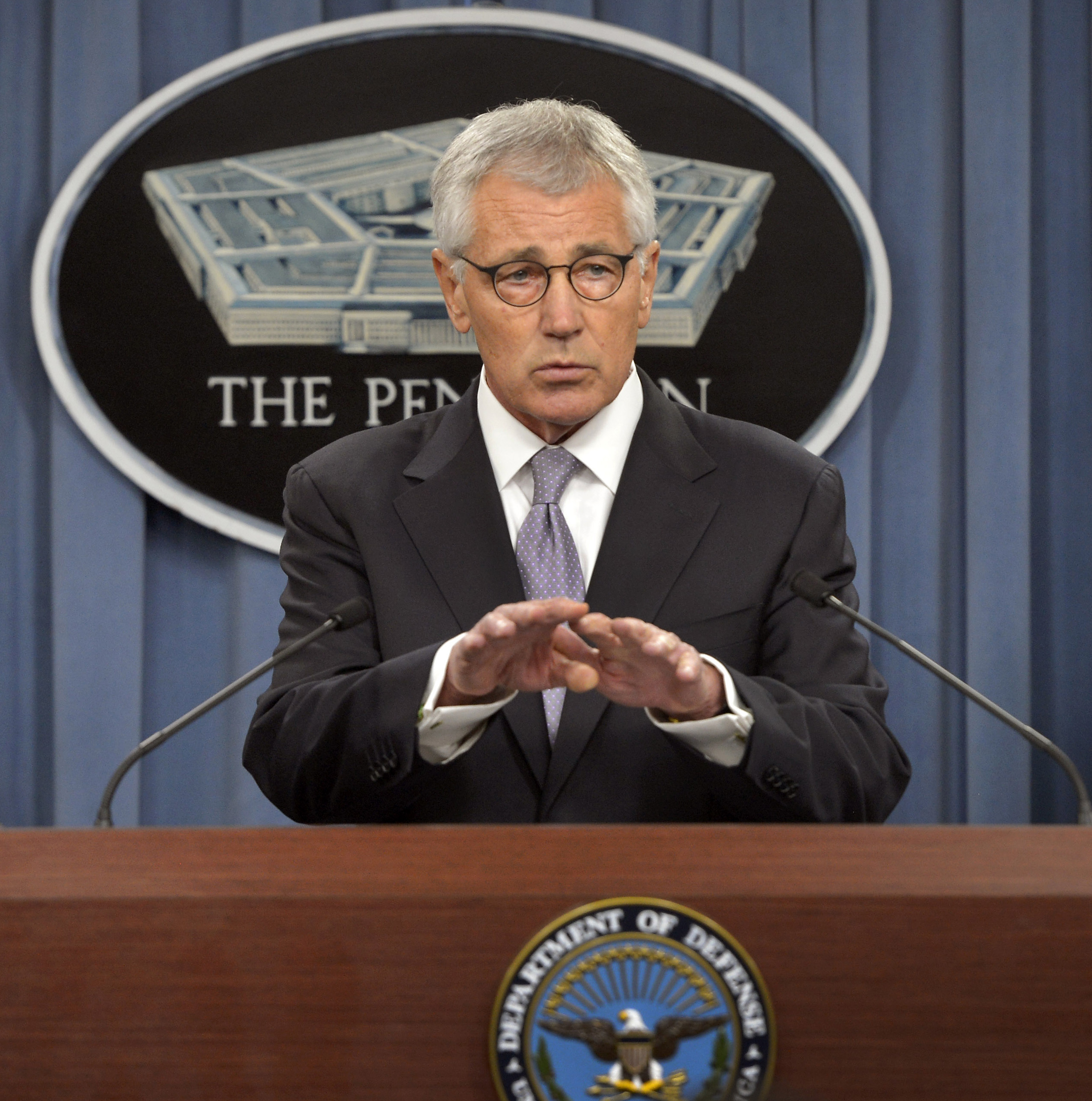 Secretary of Defense Chuck Hagel on Oct. 1, 2014. DoD Photo