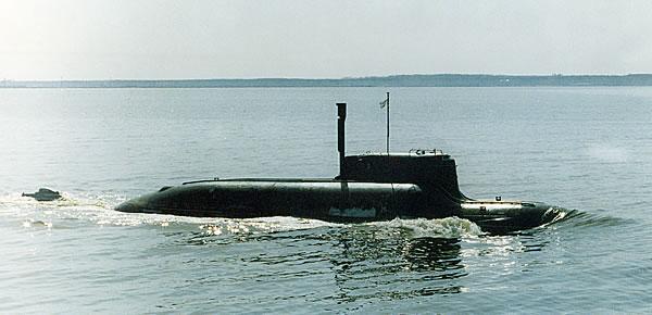 Undated photo of the Soviet-era Project 865 Piranha-class submarine.