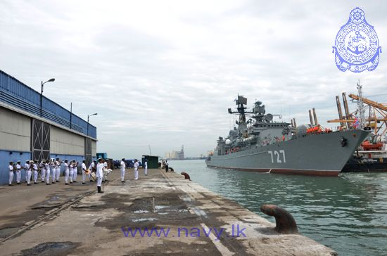 Frigate Yaroslav Mudry in the port of Colombo, Sri Lanka.