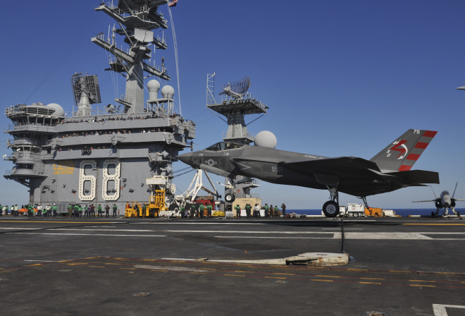 Video: U.S. Navy Version of F-35 Lands on Carrier for First Time