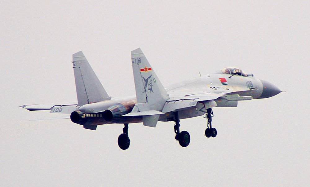 Shenyang J-15 Flying Shark tail number 108