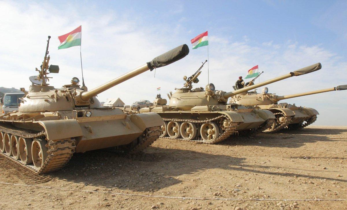 Peshmerga armor. Reuters Photo
