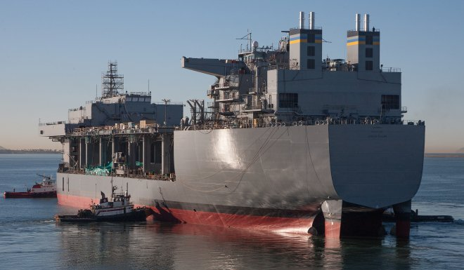Afloat Forward Staging Base Lewis B. Puller Delivers to Navy