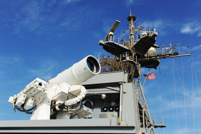 Navy to Field High-Energy Laser Weapon, Laser Dazzler on Ships This Year as Development Continues