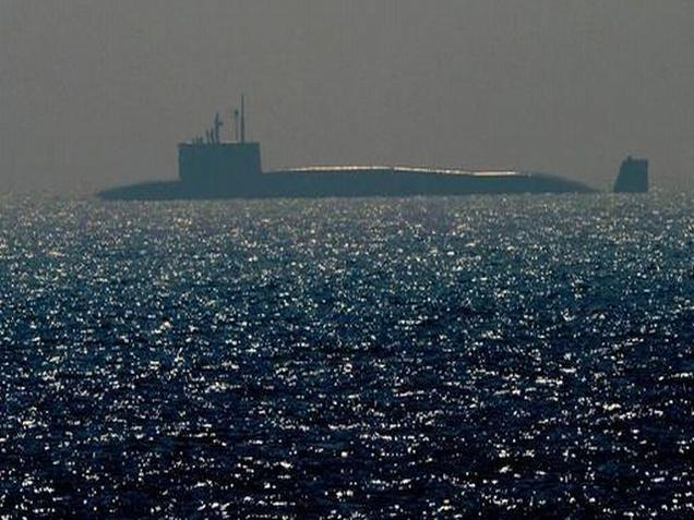 Indian Navy nuclear ballistic missile submarine INS Arihant on Monday. via The Hindu Times