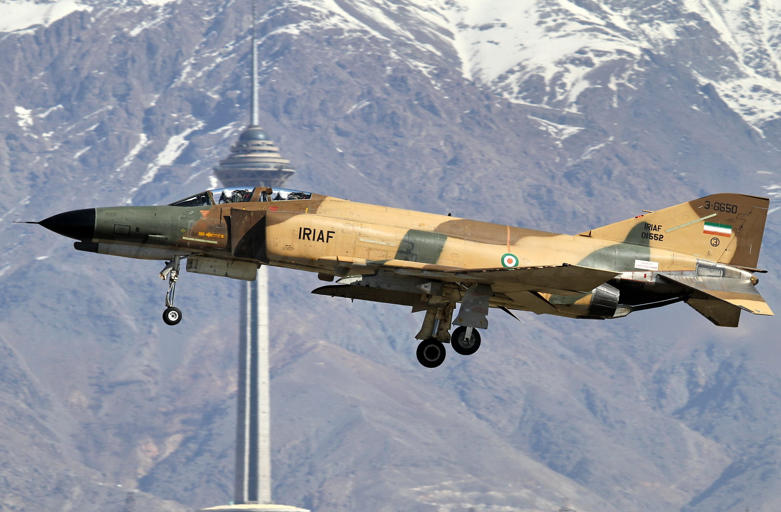 An Iranian F-4 Phantom II landing in Tehran in March 2013. via The Aviationist