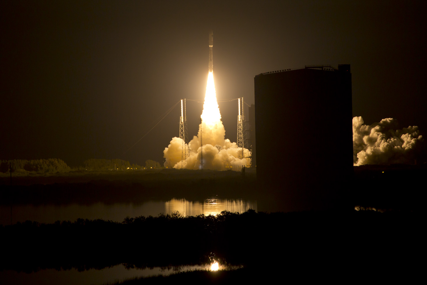 The MUOS-3 satellite launched on Jan. 20, 2014. US Navy Photo