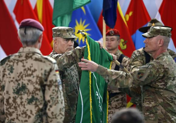 General John Campbell, commander of NATO-led International Security Assistance Force (ISAF) on Dec. 28, 2014. via Reuters