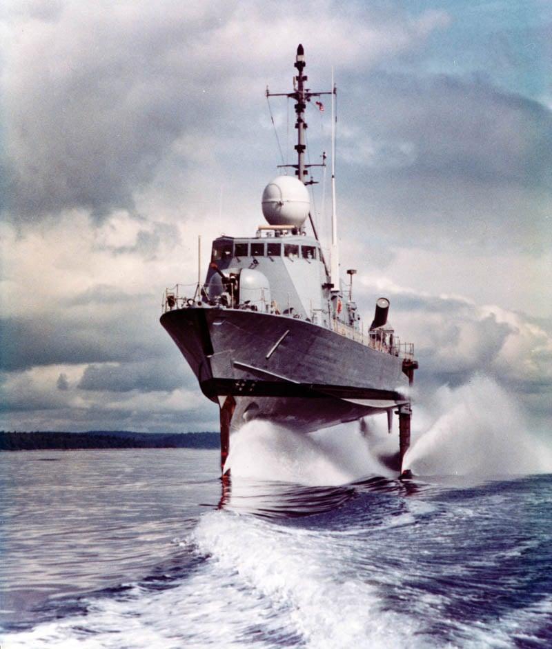 Navy Pegasus hydrofoil