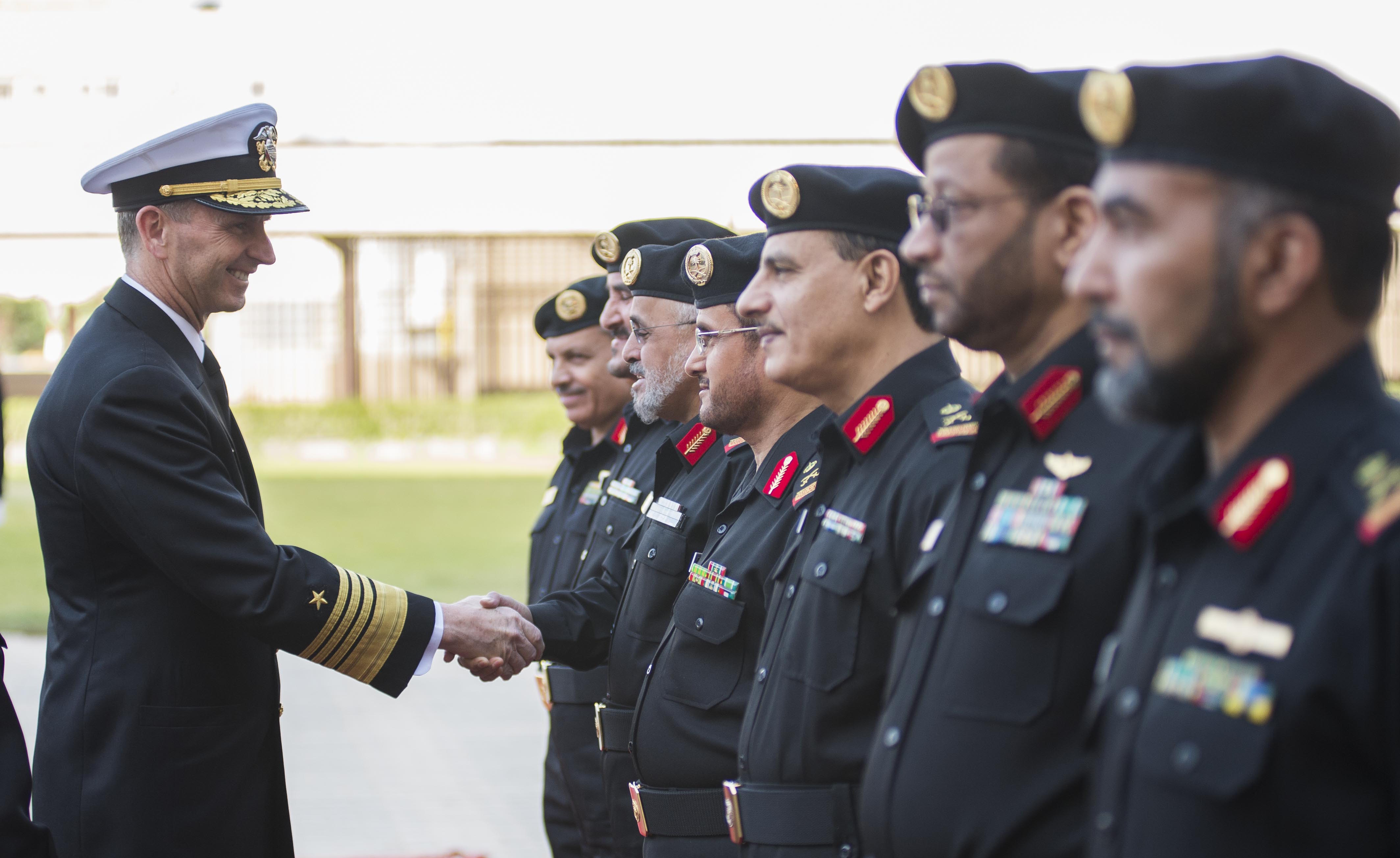 Chief of Naval Operations (CNO) Adm. Jonathan Greenert meets with heads of the Royal Saudi Naval Forces (RSNF) in 2013. US Navy Photo