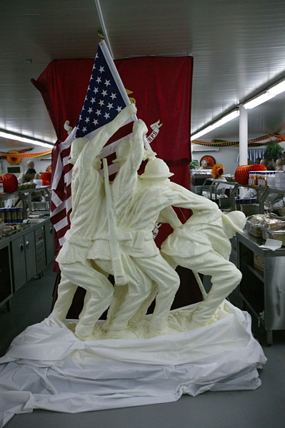 Sculpted out of butter in the Camp Fallujah chow hall, Iraq