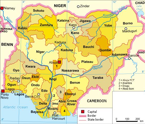 Nigeria-karte-politisch_english