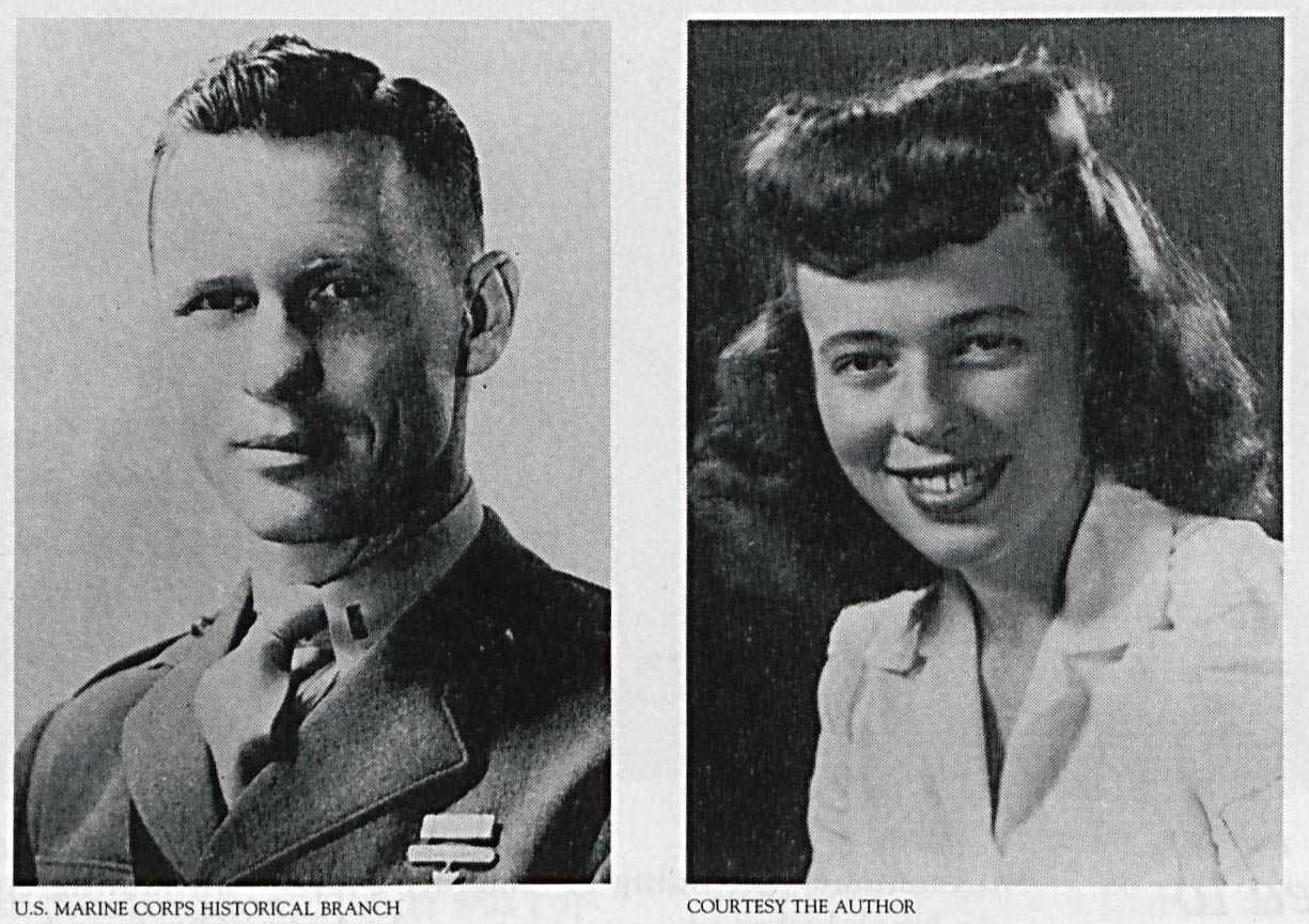 1st Lt. Jack Lummus, USMC and a then 20 year-old Mary Hartman. US Naval Institute Photo