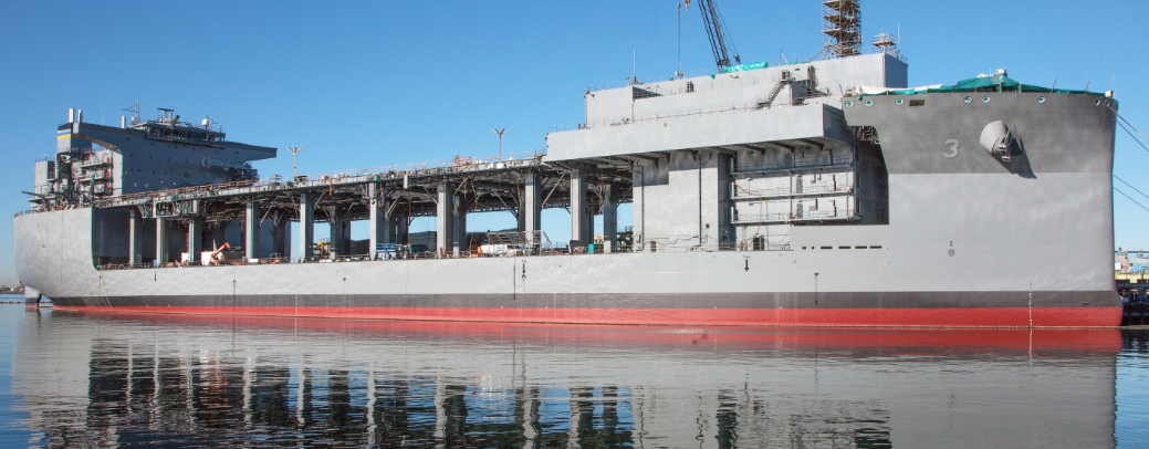 An updated image of USNS Lewis B. Puller (MLP-3/ASFB-1). NASSCO Photo