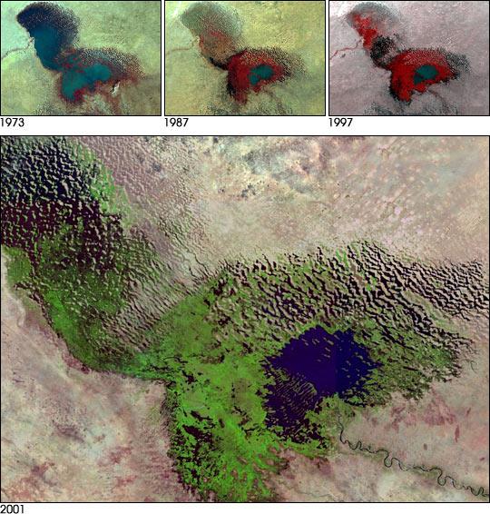 NASA image of Lake Chad