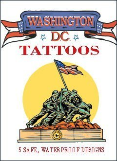 Removable tattoos for those who only want to temporarily display their patriotism