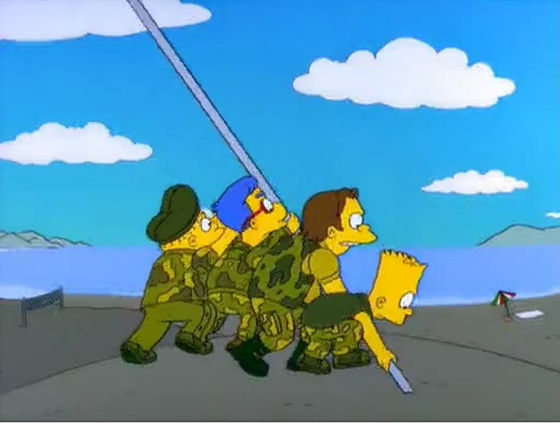 iwo-jima simpsons boy band