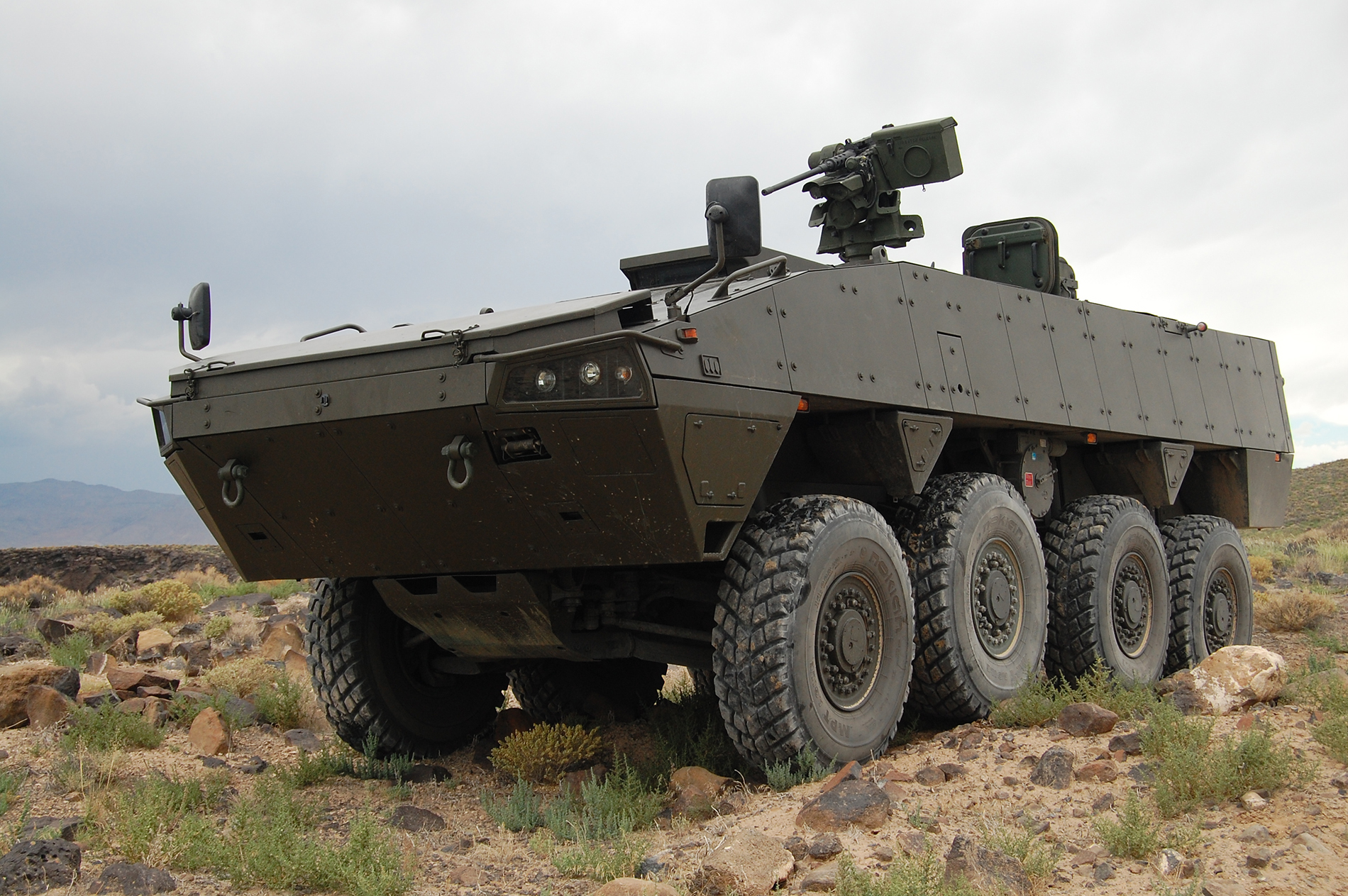 The Lockheed Martin Havoc vehicle based off of the Finnish Patria AMV and one of the likely competitors for the USMC ACV 1.1 competition. Lockheed Martin Photo