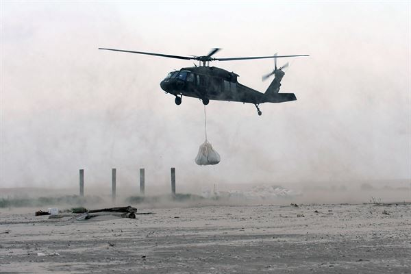 An undated photo of a UH-60 Blackhawk assigned to the 1-244th Assault Helicopter Battalion in Hammond, La.