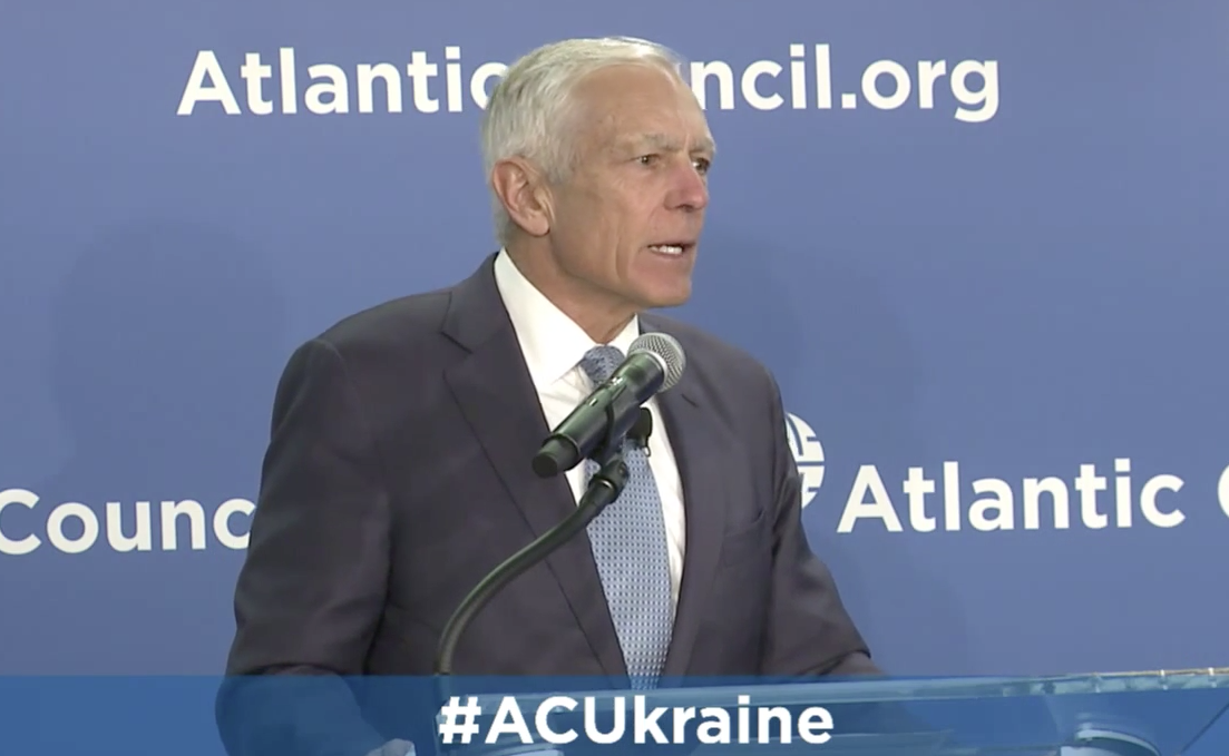 Retired Gen. Wesley Clark at The Atlantic Council on March 30, 2015. Atlantic Council Photo