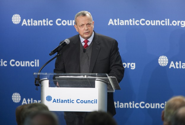 Retired Marine Gen. John Allen speaking at The Atlantic Council in Washington, D.C. Atlantic Council Photo